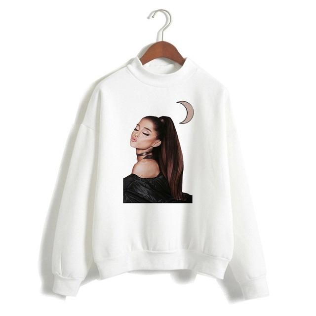 Ariana Grande Sweatshirt No Tears Left To Cry Hoodie Women Cartoon Printuotelab-uotelab