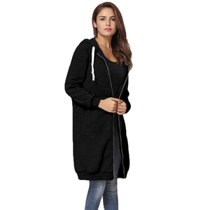5XL Oversized Winter Coats Women 2018 Fashion Long Hooded Sweatshirts Coat Casualuotelab-uotelab