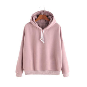 Autumn newest women sweatshirts tops 2018 fashion solid color long sleeve Hoodeduotelab-uotelab