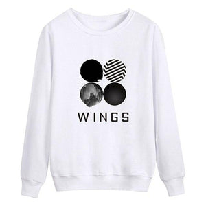 Women Kpop BTS Boys Hoodie Sweatshirts Cotton Black White Long Sleeve Pulloversuotelab-uotelab