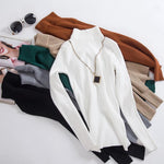 10 colors On sale spring Women Knitted Turtleneck Pullovers Sweater Casual Softuotelab-uotelab
