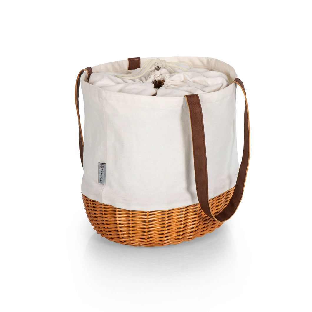 Picnic Time Family of Brands - Coronado Canvas & Willow Basket Tote