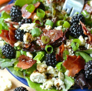 Blackberry Bacon Blue Cheese Salad