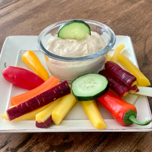 Load image into Gallery viewer, Fresh Made Hummus with Veggie Dippers