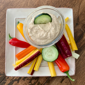 Fresh Made Hummus with Veggie Dippers