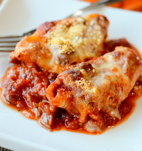 Stuffed Shells in Meat Sauce