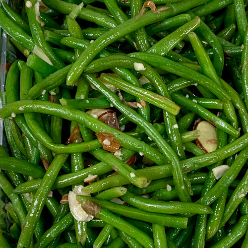 Sauteed Green Beans with Garlic & Almonds
