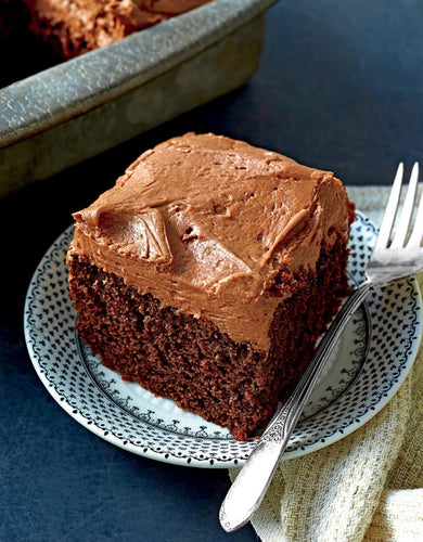 Fudge-Frosted Chocolate Sheetcake