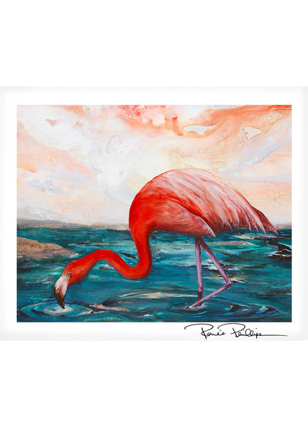 Flamingo Art Print, 11x14