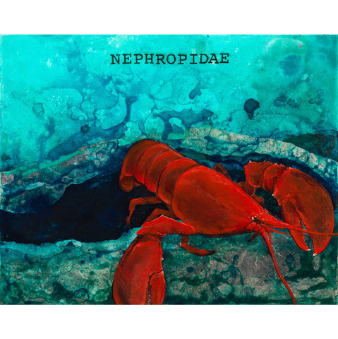 Nephropidae, Lobster Canvas Giclée