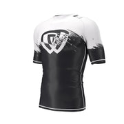 phalanx bjj rash guard for jiu jitsu and mma, perfect for no gi JJ or gi jiujitsu, short sleeve rashguard, wear at Spartan Race, Tough Mudder, Yoga - all athletics!