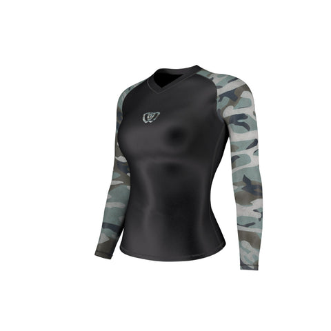 phalanx bjj women rash guard for female jiu jitsu and mma, perfect for women's no gi JJ or gi jiujitsu, short sleeve ladies rashguard, wear at Spartan Race, Tough Mudder, Yoga - all athletics!