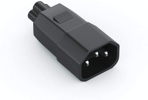 IEC 60320-C14 3-Pin Female Plug to IEC 60320-C5 3-Slot Male Connector Adapter