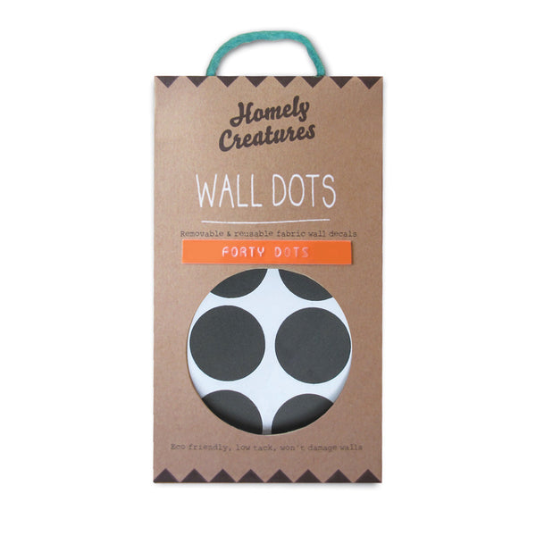 Removable Wall Decal Dots Black