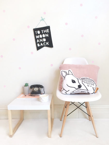 Homely Creatures - Removable Wall Decal Dots (Pink)