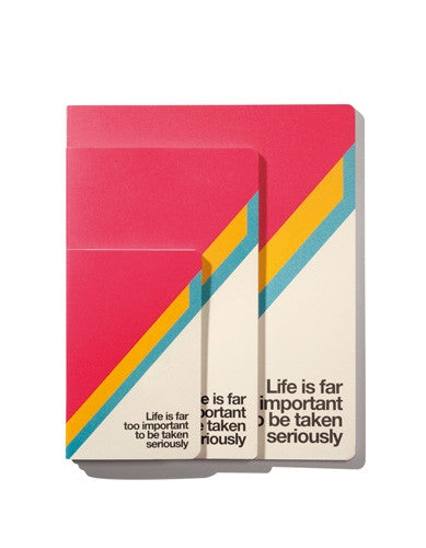 Ogami - Life Is Far Too Important To Be Taken Seriously (Small) - Notebook