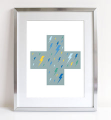Sprout And Sparrow - Lightning Strikes Twice - Kids Print