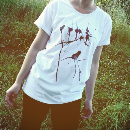 Painted Street - Black Birds - Womens T-Shirt