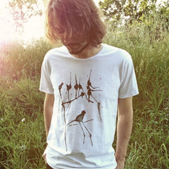 Painted Street - Black Birds - Mens T-Shirt