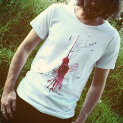 Painted Street - Red Bird (White) - Mens T-Shirt