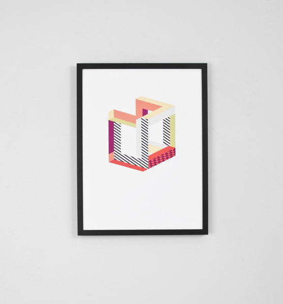 Middle Of Nowhere - Cube - Framed Print