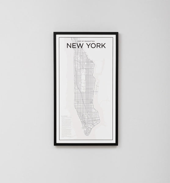Middle Of Nowhere Manhattan Map Framed Print