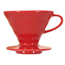 Hario - V60 Dripper Red Porcelain 2 cup - Coffee Brewer