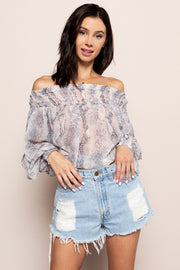Lia Off the Shoulder Top For Sale