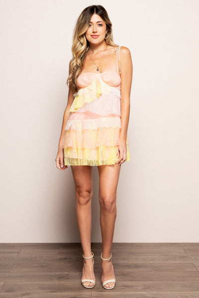 Sorbet Lace Mini Dress