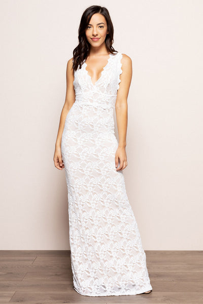 Perfect Plunge Maxi White For Sale