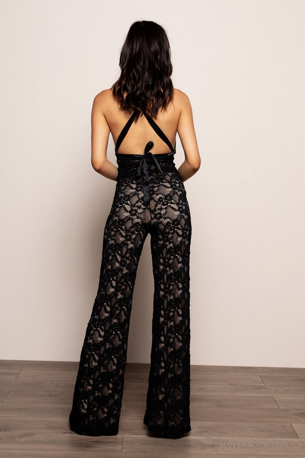 Wisteria Jumpsuit Black