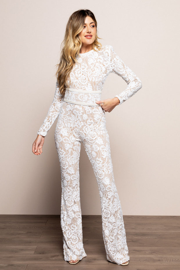 Bella Jumpsuit White