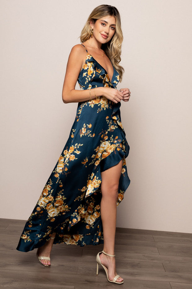 Layla Gown in Navy Floral