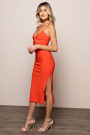 Ulla Cut Out Midi Dress For Sale