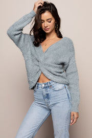Front Twist Sweater