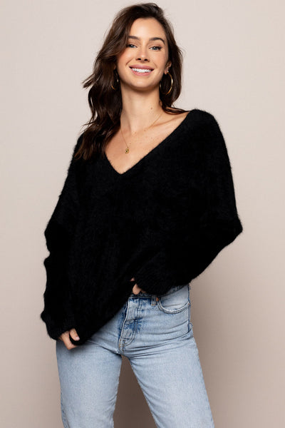 Lover Lay Down Sweater Black