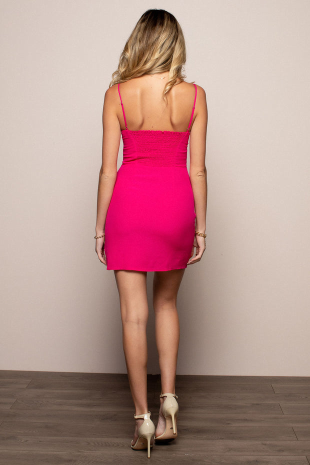 Donia Dress Bright Rose