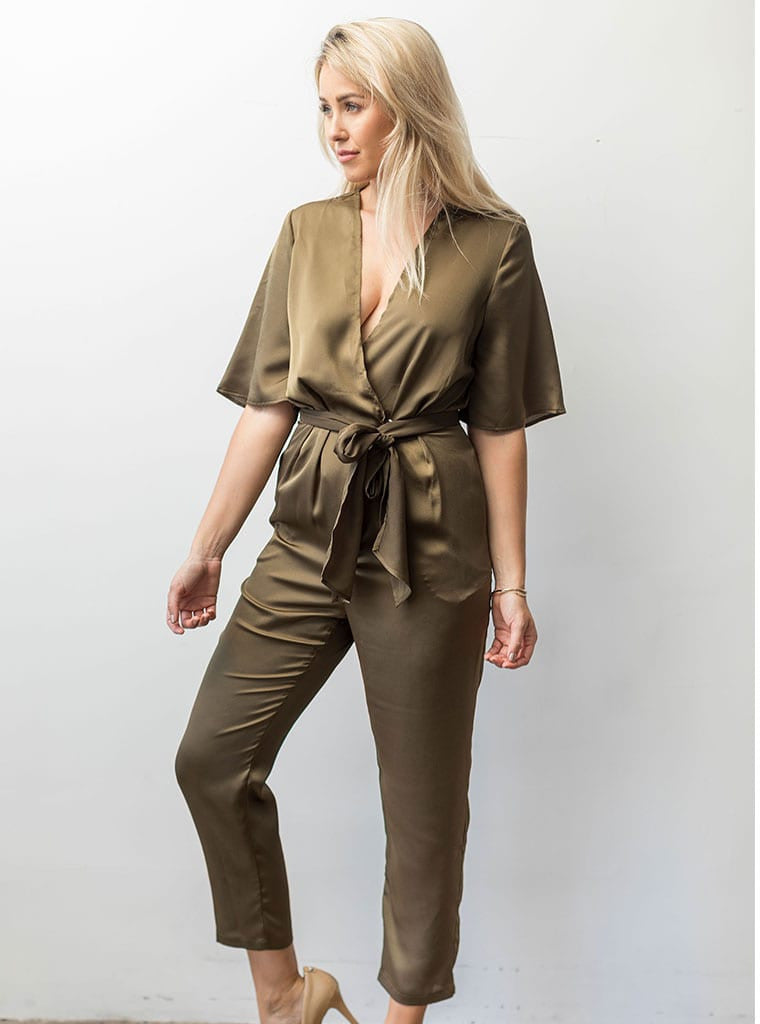 Changing Course Jumpsuit Olive