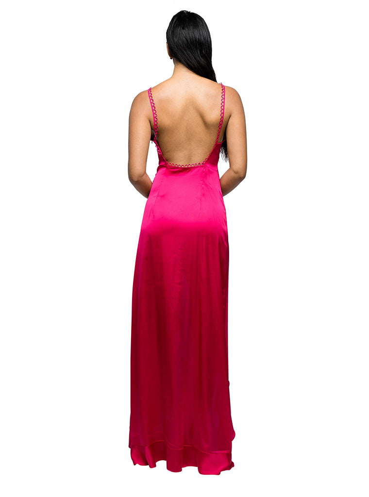 Isabella Ruffled Maxi in Pink