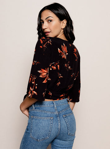 Birds of Paradise Wrap Top