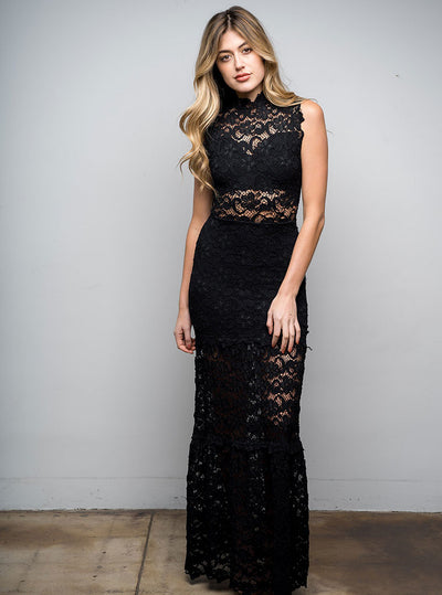 Dixie Lace Maxi Black