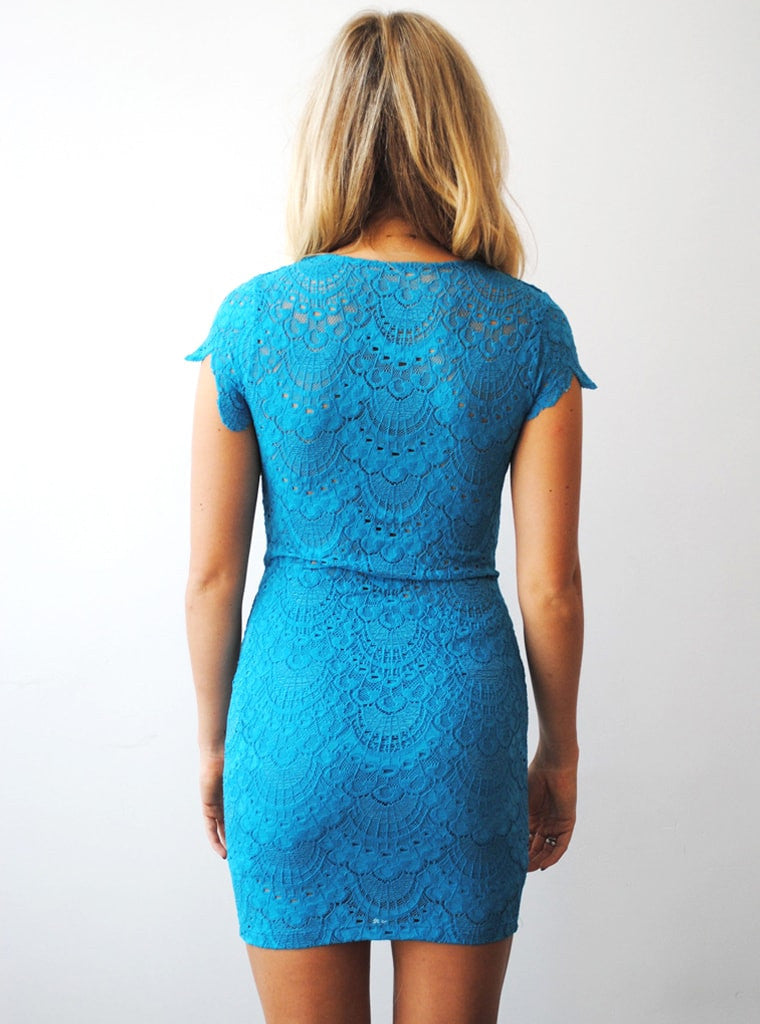 Spanish Lace V Neck Dress