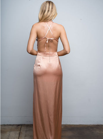 Lido Dress in Champagne