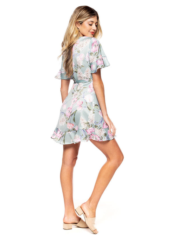 Evelyn Mini Wrap Dress