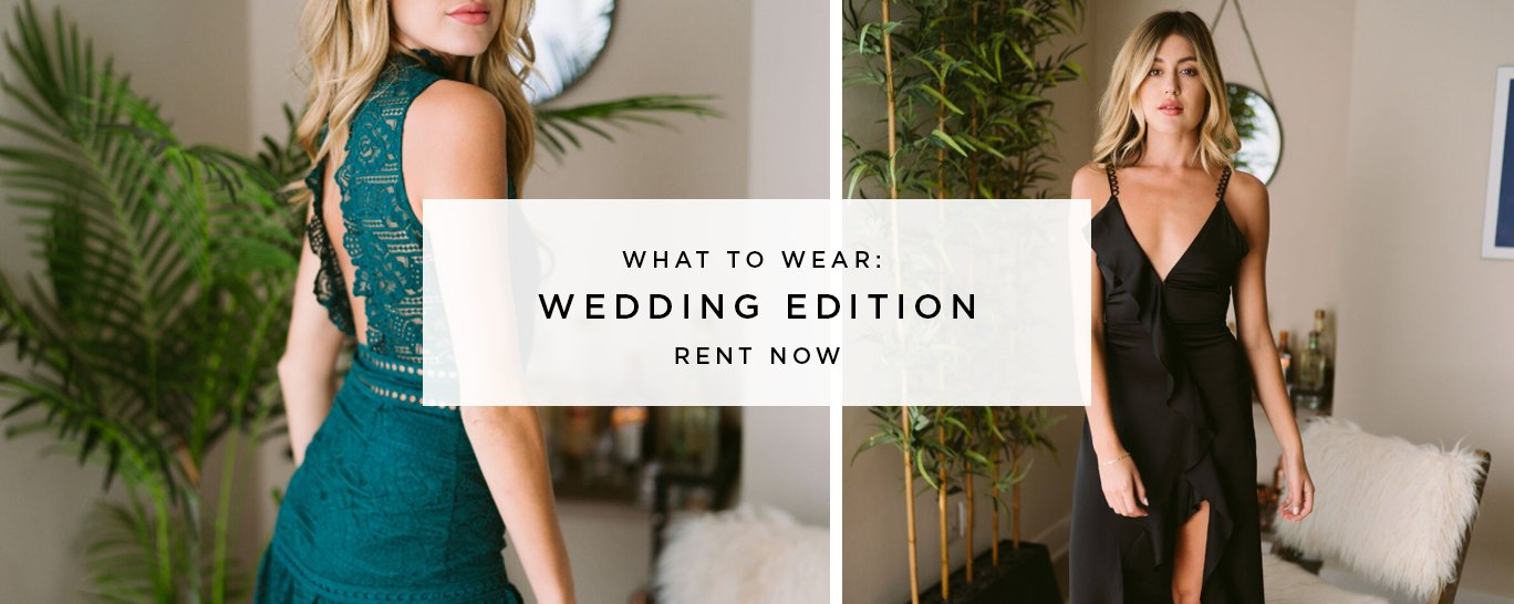 dress rental: what to wear to a wedding