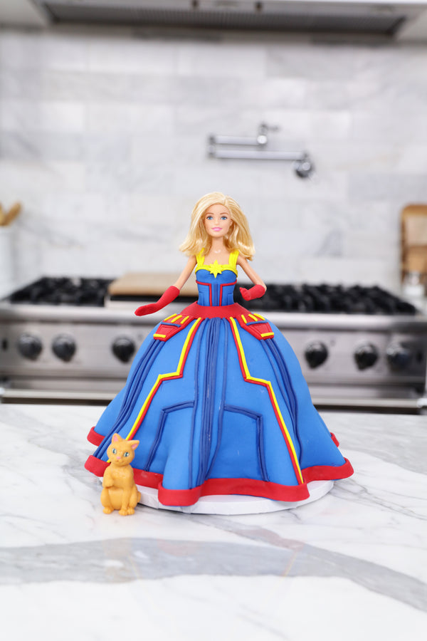 Captain Marvel Princess Cake