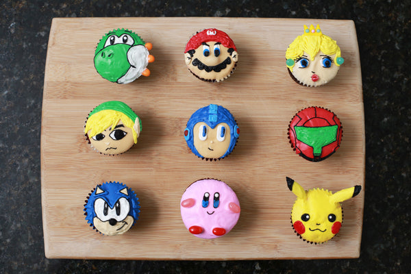 Super Smash Bros Cupcakes