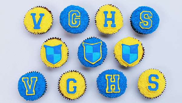 Video Game High School Cupcakes