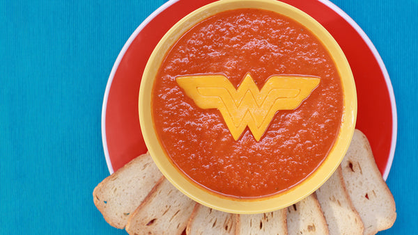 Wonder Woman Tomato Soup