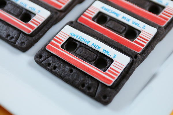 Guardians of the Galaxy Cassette Cookies